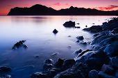 Karadag at sunset