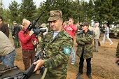 BUDIHINO, RUSSIA - AUG 26, 2010: During Command post exercises with 98-th Guards Airborne Division i