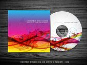 colorful abstract style cd cover design