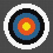 8-bit Pixel-art Archery Target