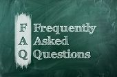 foto of faq  - frequently asked question  - JPG