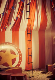 picture of circus tent  - vintage circus arena - JPG