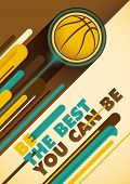 Basketball poster with abstract design. Vector illustration.