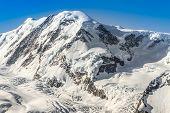 Beautiful Mountain Range Landscape With Blue Sky