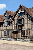 stock photo of avon  - Front view of Shakespeares Birthplace along Henley Street - JPG