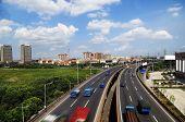 Modern City Overpass Landscape