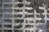 picture of cinder block  - cement block Closeup detail of a grey breeze block wall - JPG