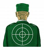 Soldier with target