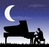 pianist under the moon