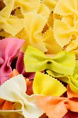 Texture from two different farfalle pasta