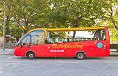 Red City Sightseeing Bus In Stavanger, Norway