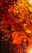 pic of coca-cola  - Cola in glass with ice and a bubbles of gas - JPG