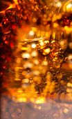 picture of coca-cola  - Cola in glass with ice and a bubbles of gas - JPG