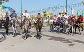 Horsemen And Carriages