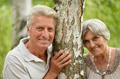 Mature couple in forest