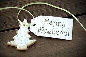 Happy Weekend Christmas Label