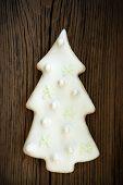 Christmas Tree Cookie On Wood IV