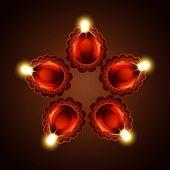 Vector diwali diya background