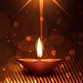 Vector creative colorful diwali diya background