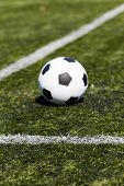 Soccer Ball On Artificial Pitch