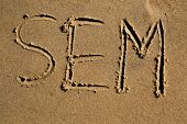 The Word Sem Written In The Sand