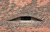 foto of sibiu  - sibiu city romania traditional architecture detail roof tile eye - JPG