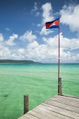 Sok San Pier In Koh Rong Island Cambodia