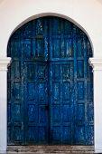 Aged Blue Door In Guatemala