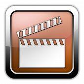 Icon, Button, Pictogram Clapperboard