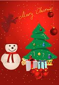 Christmas background with presents