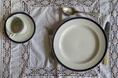 18Th Century Table Ware Place Setting