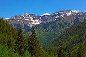 Mountains surrounding Telluride Colorado.