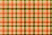 Tartan Orange And Green Pattern - Plaid Clothing Table