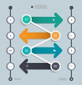 Infographic Step By Step Timeline Template