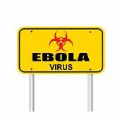 Ebola Virus Area Sign Vector