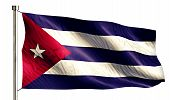 Cuba National Flag Isolated 3D White Background