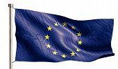 Europe National Flag Isolated 3D White Background