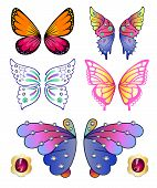 Butterflies Colored Gem Wings Set