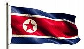 North Korea National Flag Isolated 3D White Background