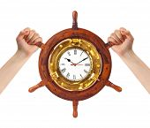 Hands And Helm Clock - Time Management