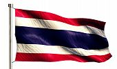 Thailand National Flag Isolated 3D White Background