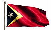 Timor Leste National Flag Isolated 3D White Background