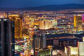Overview Of Downtown Las Vegas In The Night