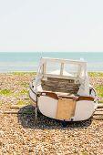 Boat on a shingle beach