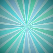 Fanning Rays Abstract Geometric Background with Exploding Stripes in Vintage Shades of Blue and Gree