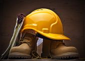 pic of work boots  - Safety Protective Work Equipment - JPG