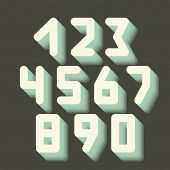 Number icons. Vector set.