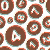 Numbers. Seamless pattern. Vector illustration. Can be used for wallpaper, web page background, web