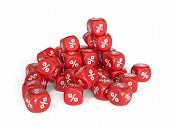 Red Percent Dices