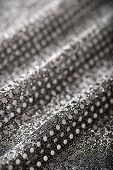 Christmas New Year Black and Silver Glitter background. Holiday abstract texture